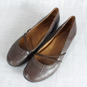 Natural Soul Nerman Brown Leather Loafers 8 W Wide